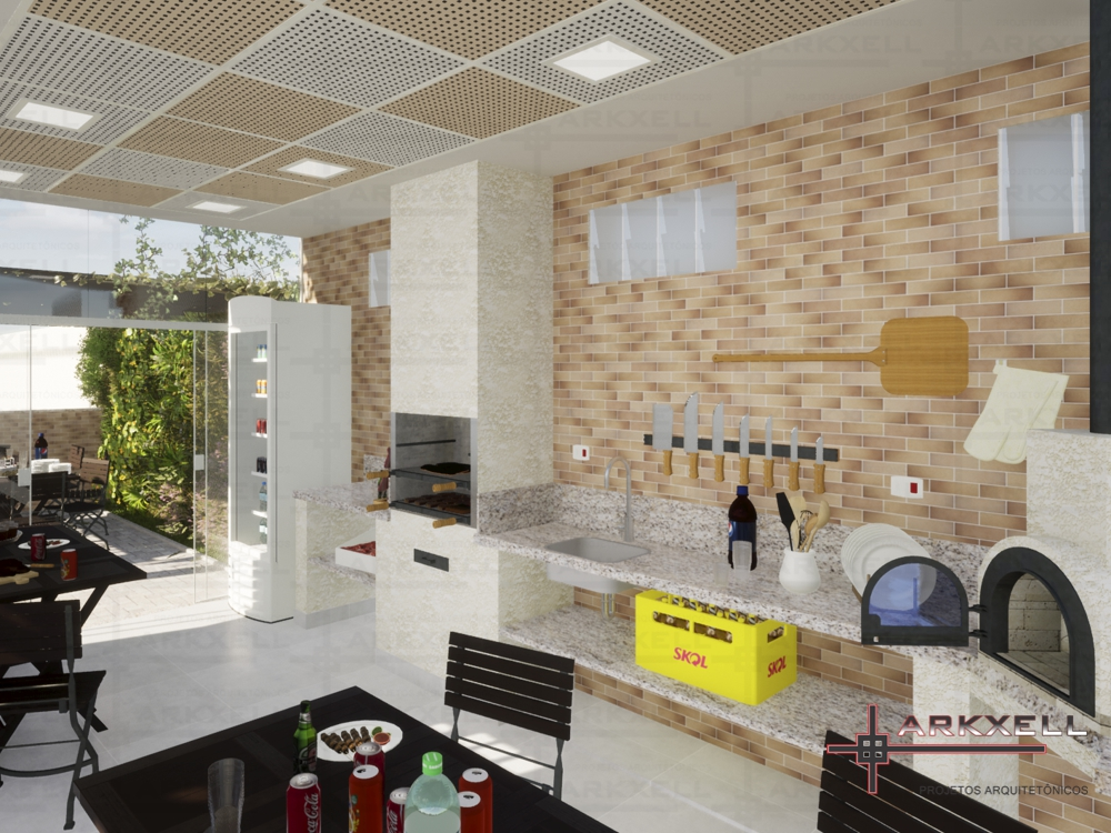 Projeto Espaço Gourmet - Reserva dos Lagos
