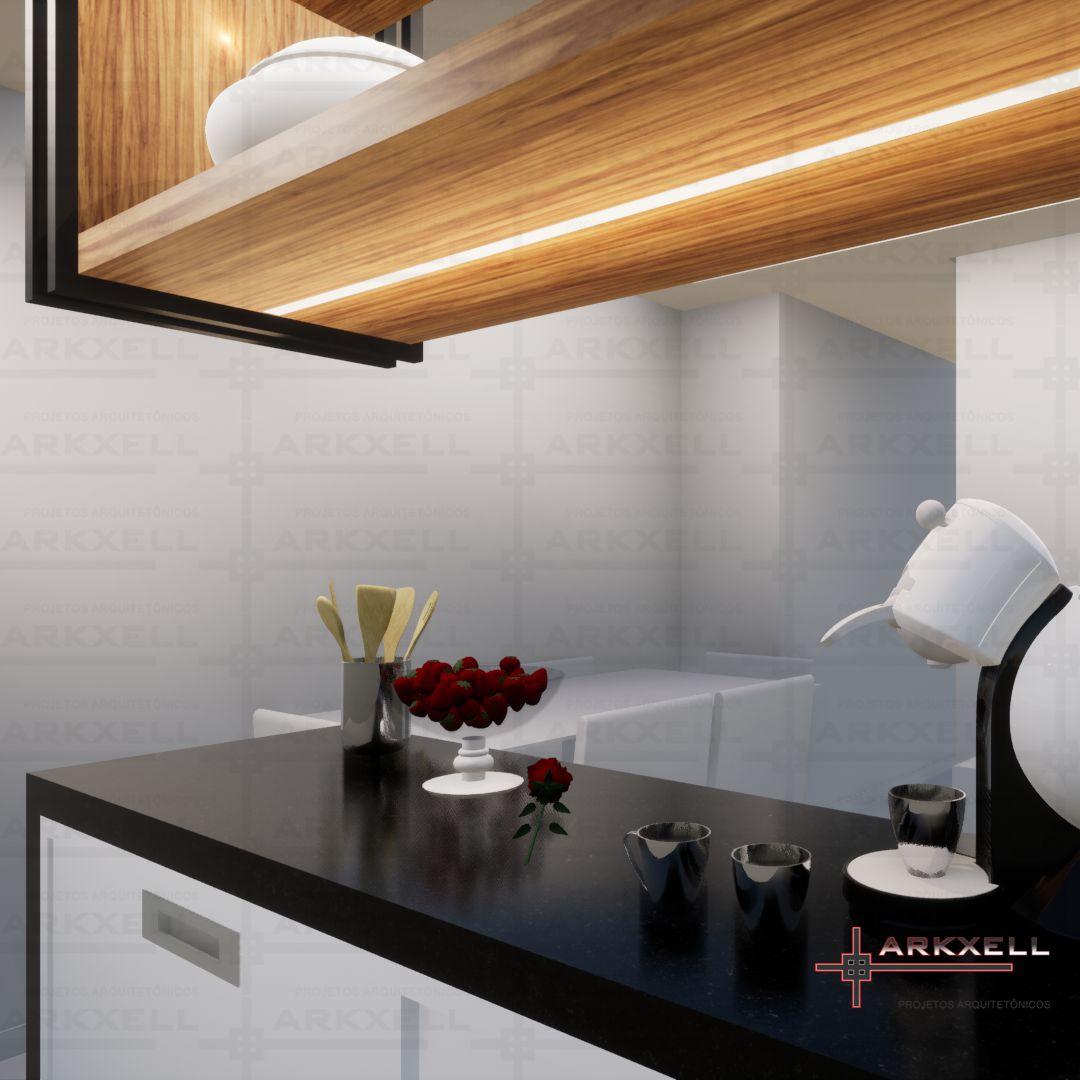 Projeto de Integração Sala e Cozinha - Oliveira
